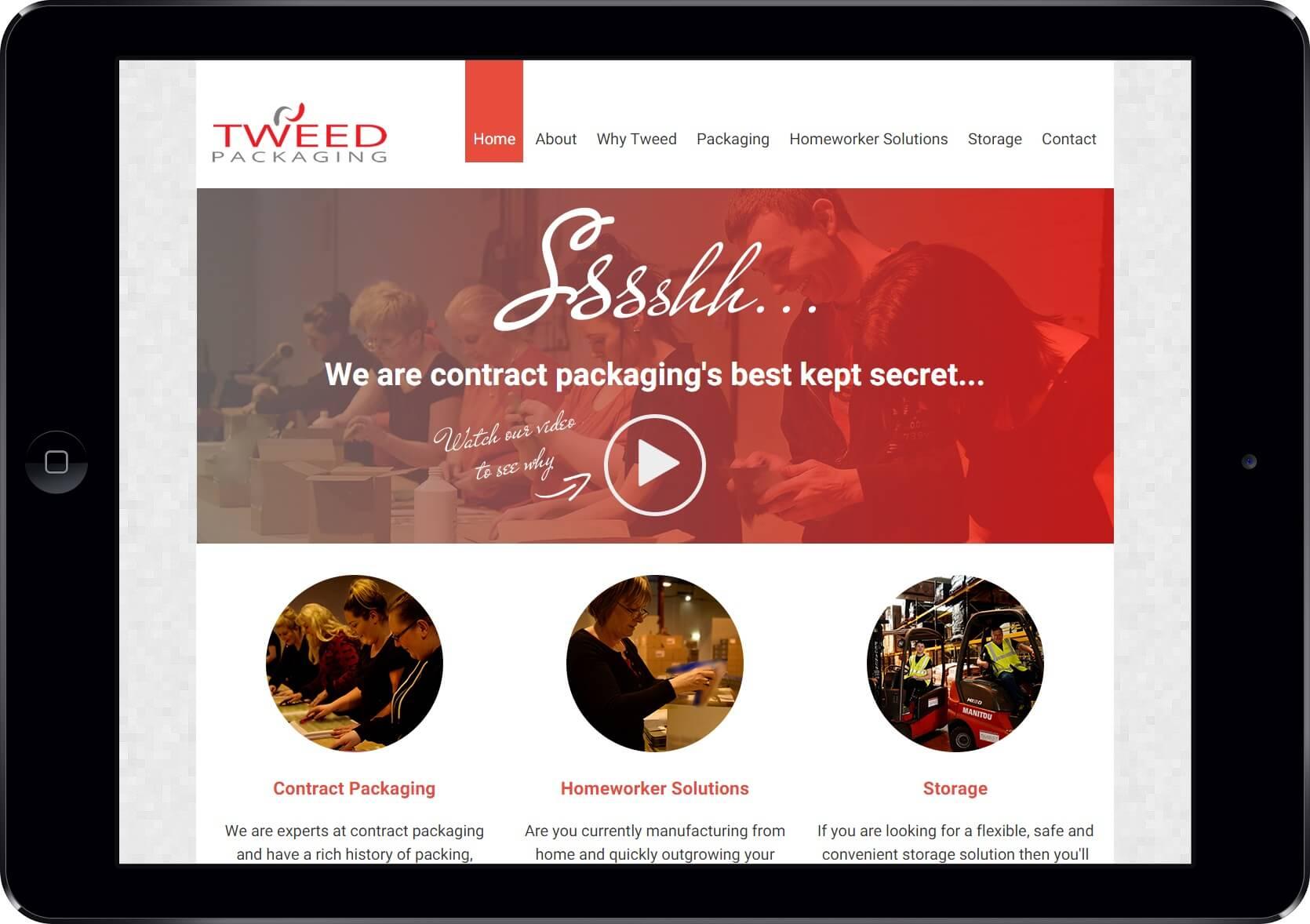Screenshot of the Tweed Enterprises Website